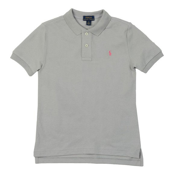 Polo Ralph Lauren Boys Grey Pique Polo Shirt