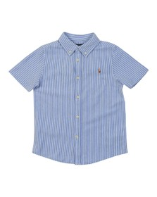 Polo Ralph Lauren Boys Blue Boys Short Sleeve Pique Shirt