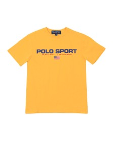 Polo Ralph Lauren Sport Boys Yellow Boys Large Logo T Shirt