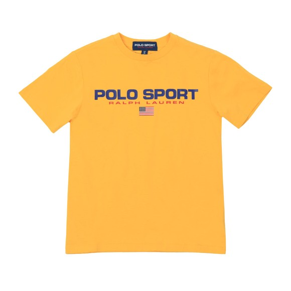 Polo Sport Ralph Lauren Boys Yellow Boys Large Logo T Shirt