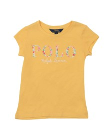Polo Ralph Lauren Girls Yellow Floral Embroidered T-Shirt