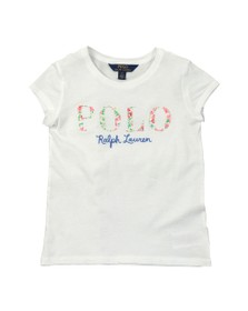 Polo Ralph Lauren Girls White Floral Embroidered T-Shirt