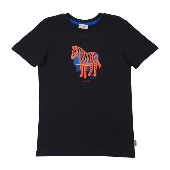 Paul Smith Junior Boys Blue Amolo Zebra T-Shirt main image