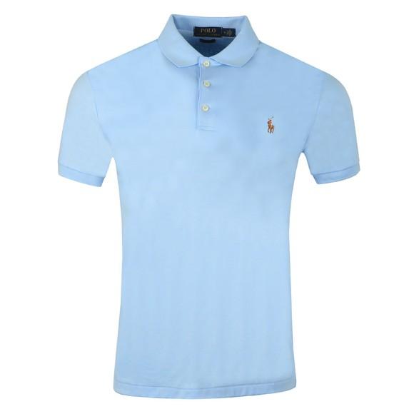 Polo Ralph Lauren Mens Blue Slim Fit Pima Polo Shirt