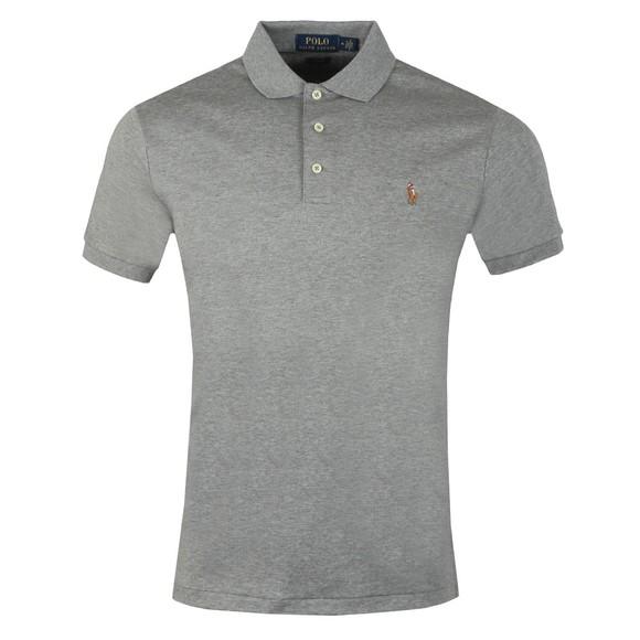 Polo Ralph Lauren Mens Grey Slim Fit Pima Polo Shirt