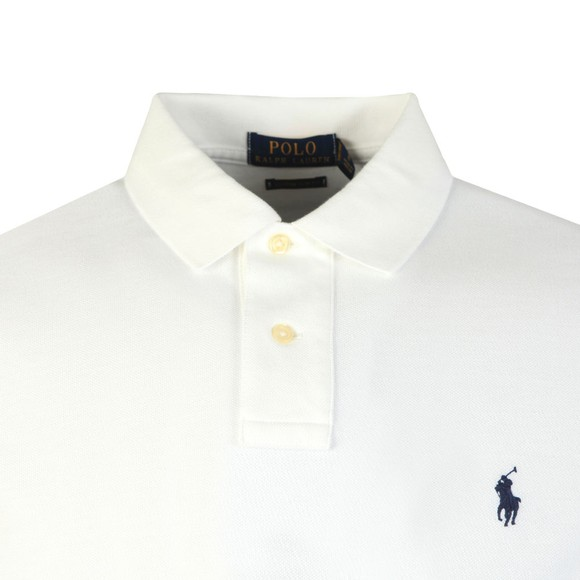 Polo Ralph Lauren Mens White Custom Slim Fit Short Sleeve Polo Shirt main image