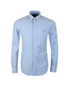 Polo Ralph Lauren Mens Blue Slim Fit Button Down Oxford Shirt