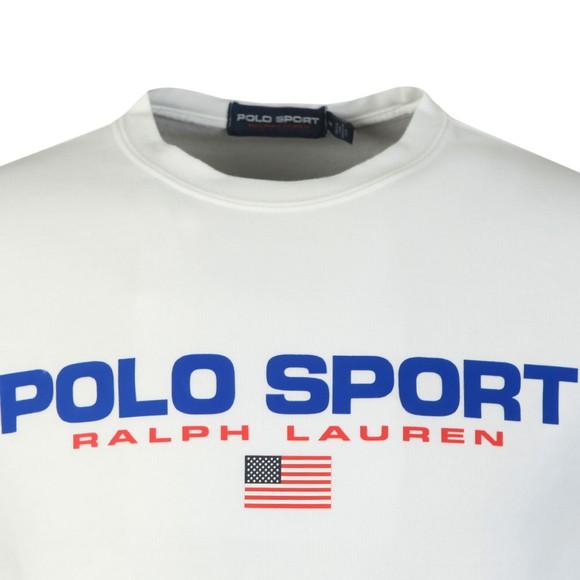 Polo Sport Ralph Lauren Mens White Crew Neck Sweatshirt