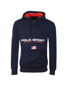 Polo Ralph Lauren Sport Mens Blue Half Zip Hoody