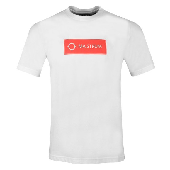 Ma.Strum Mens White Icon Box Logo T-Shirt