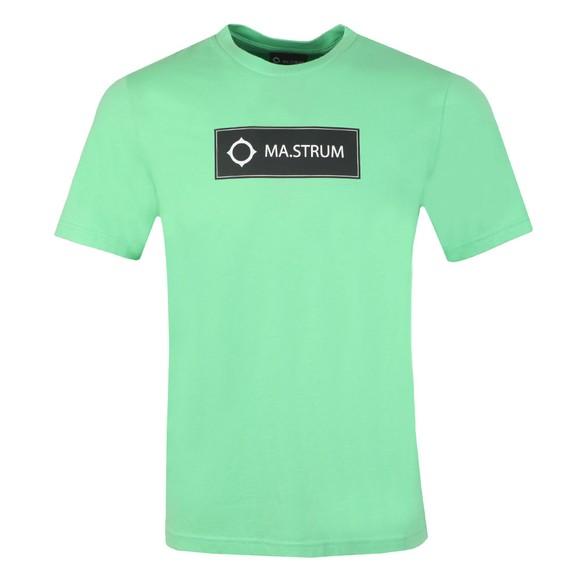 Ma.Strum Mens Green Icon Box Logo T-Shirt