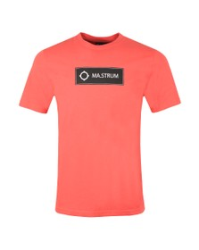 Ma.Strum Mens Pink Icon Box Logo T-Shirt