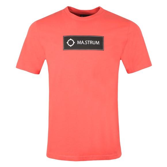 Ma.Strum Mens Pink Icon Box Logo T-Shirt