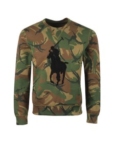 Polo Ralph Lauren Mens Black Tonal Terry Sweatshirt