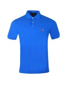 Polo Ralph Lauren Mens Colby Blue Custom Slim Fit Short Sleeve Polo Shirt