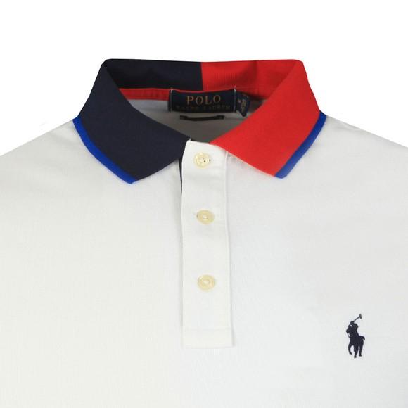 Polo Ralph Lauren Mens White Polo Logo Polo Shirt