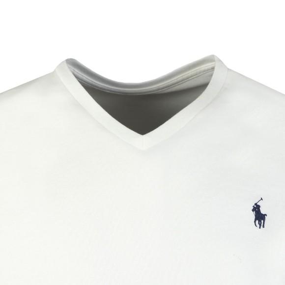 Polo Ralph Lauren Mens White Custom Slim Fit V Neck T Shirt