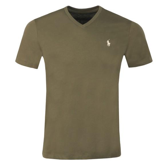 Polo Ralph Lauren Mens Defender Green Custom Slim Fit V Neck T Shirt