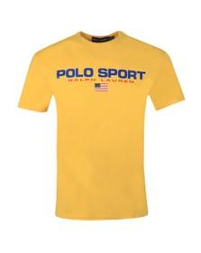 Polo Ralph Lauren Sport Mens Yellow Logo T Shirt
