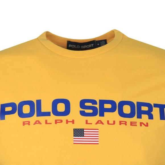 Polo Sport Ralph Lauren Mens Yellow Logo T Shirt