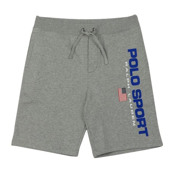 Polo Sport Ralph Lauren Mens Grey Side Logo Jersey Short