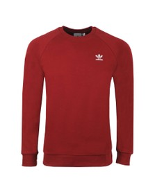 adidas Originals Mens Red Essential Crew Neck Sweatshirt