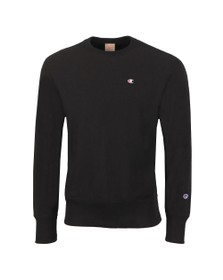Champion Reverse Weave Mens Black Small Logo Sweatshirt