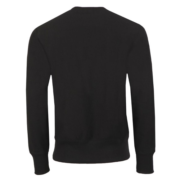Champion Reverse Weave Mens Black Small Logo Sweatshirt main image