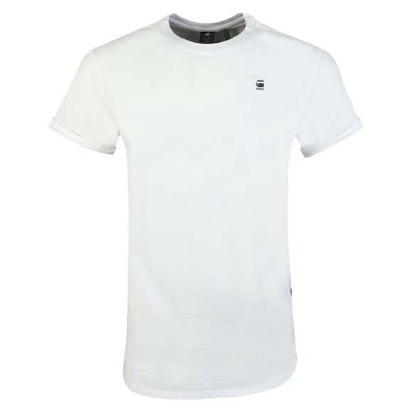 G-Star Mens White Lash Crew Neck T-Shirt main image