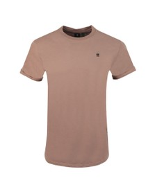 G-Star Mens Pink Lash Crew Neck T-Shirt
