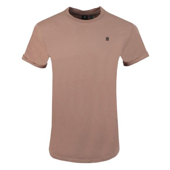 G-Star Mens Pink Lash Crew Neck T-Shirt