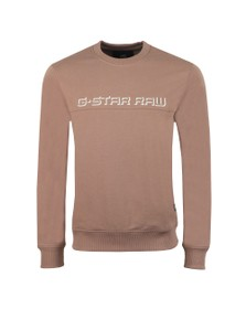 G-Star Mens Brown Embro Panelled Sweatshirt
