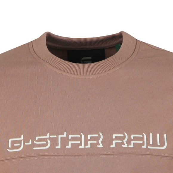 G-Star Mens Brown Embro Panelled Sweatshirt  main image