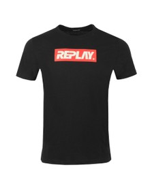 Replay Mens Black Box Logo T-Shirt