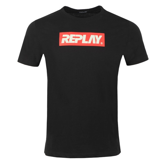 Replay Mens Black Box Logo T-Shirt main image