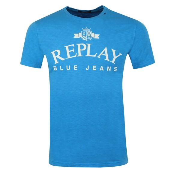 Replay Mens Blue Iconic Logo T-Shirt main image