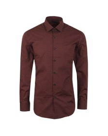 HUGO Mens Red Kenno Pattern Shirt