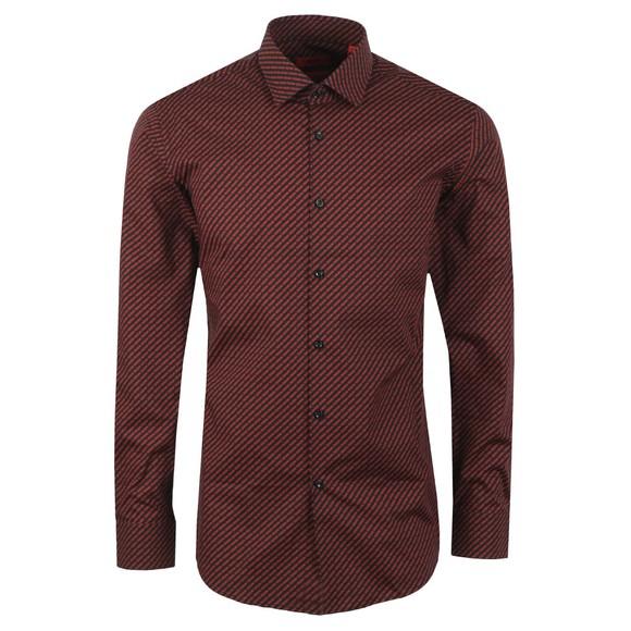 HUGO Mens Purple Kenno Pattern Shirt