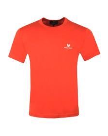 Belstaff Mens Orange Small Logo T-Shirt