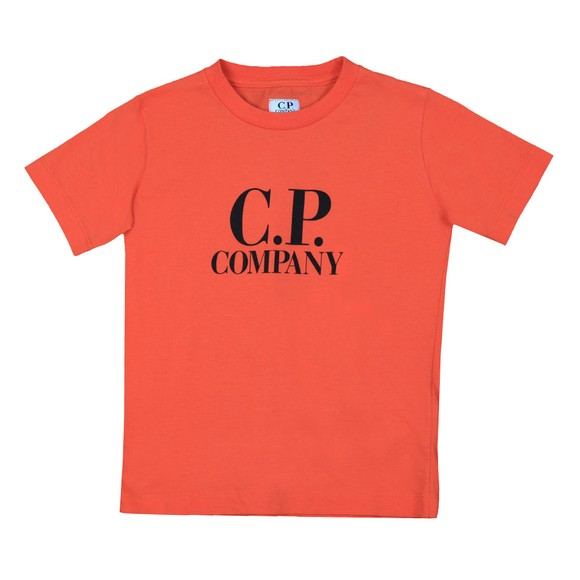 C.P. Company Undersixteen Boys Orange Printed Goggle T Shirt main image
