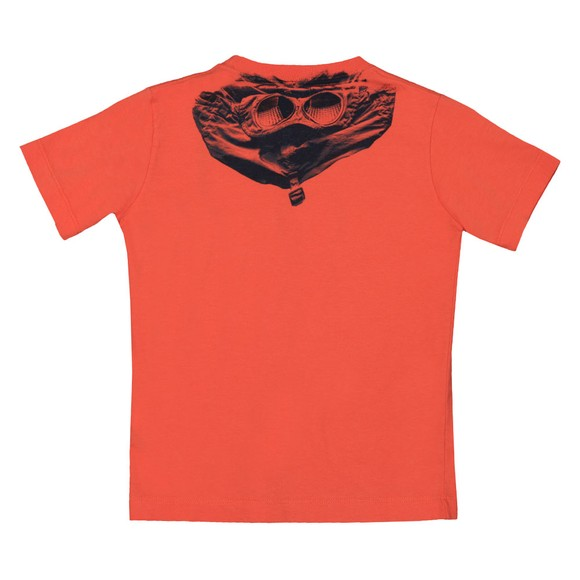 C.P. Company Undersixteen Boys Orange Printed Goggle T-Shirt
