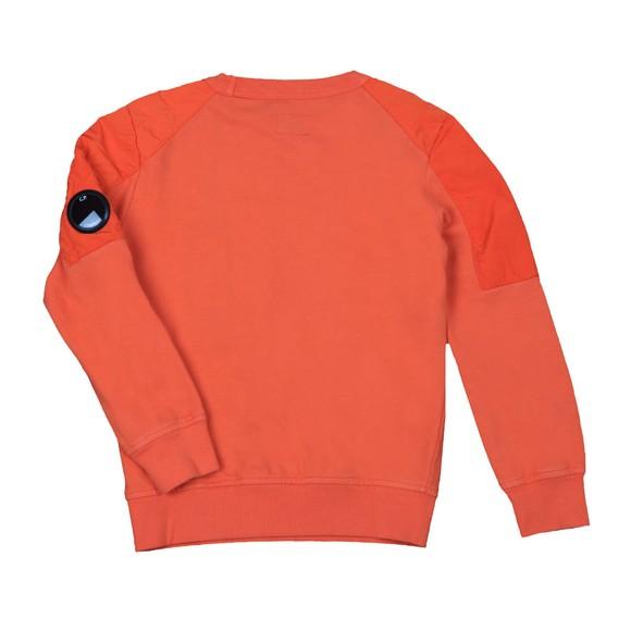 C.P. Company Undersixteen Boys Orange Mixed Fabric Arm Lens Sweatshirt main image