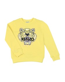 Kenzo Kids Girls Yellow Embroidered Tiger Sweatshirt