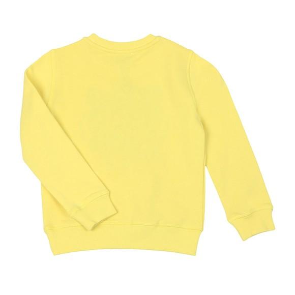 Kenzo Kids Girls Yellow Embroidered Tiger Sweatshirt