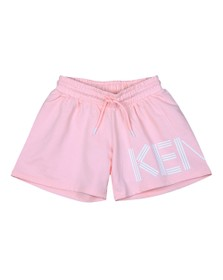 Kenzo Kids Girls Pink Large Logo Sweat Short