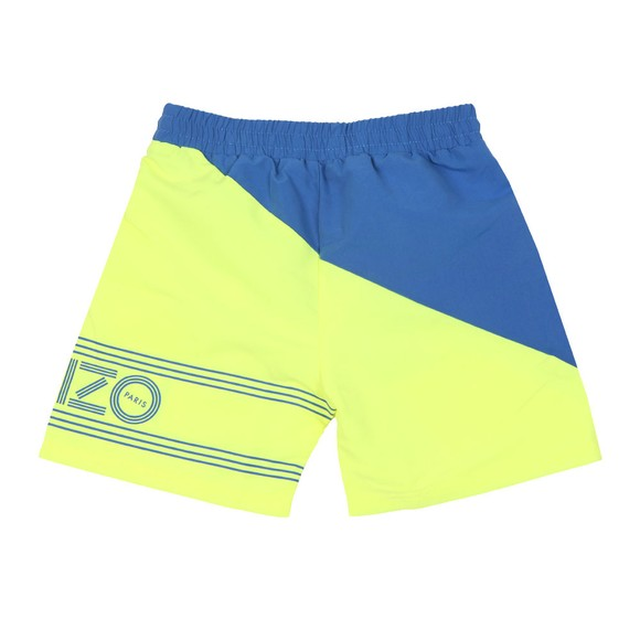Kenzo Kids Boys Yellow 2 Tone Swim Short main image