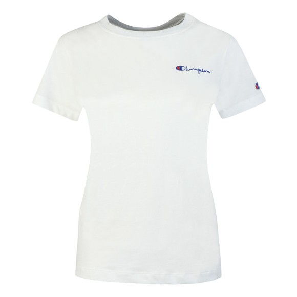Champion Reverse Weave Womens White Crew Neck T-Shirt