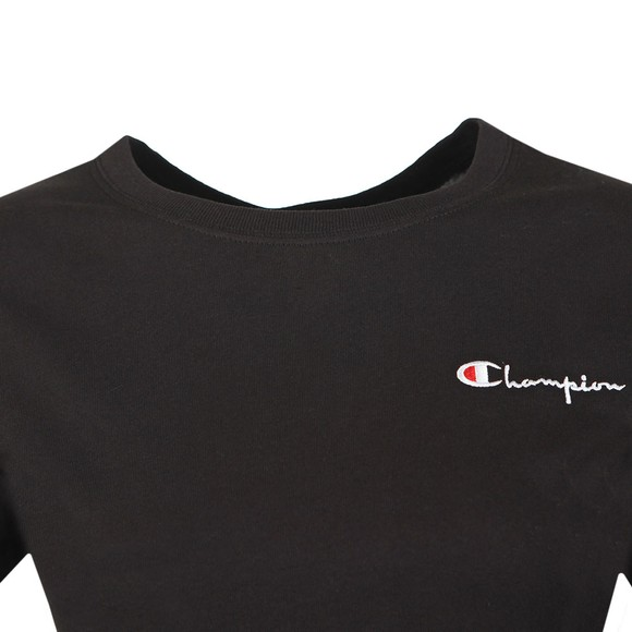Champion Reverse Weave Womens Black Crew Neck T-Shirt main image