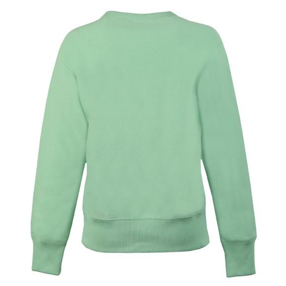 Champion Reverse Weave Womens Green Small Script Logo Sweatshirt main image