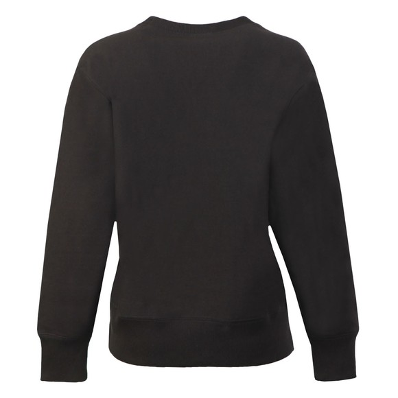 Champion Reverse Weave Womens Black Small Script Logo Sweatshirt main image